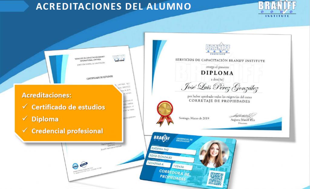 Diploma Corredor de propiedades